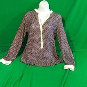 Zara xs silk boho blouse